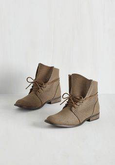 Whole Java Love Bootie in Taupe. Walk up and smell the coffee in these casual ankle boots! #tan #modcloth