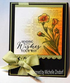 Faded Background Floral card by Michelle Zindorf