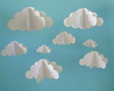 VERKAUF Wolken Sie hängen Baby Mobile Baby Mobile von goshandgolly