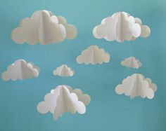 SALE Cloud Baby Mobile Hanging Baby Mobile 3D by goshandgolly