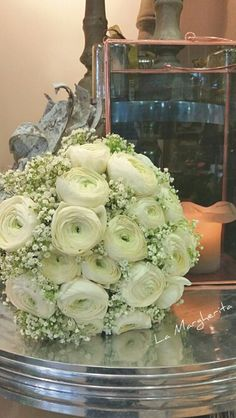 ranuncoli bianchi bouquet sposa