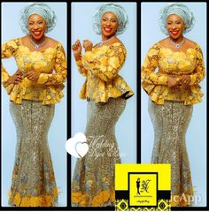 Be Ready To Be Wowed With WDN Astonishing Aso-Ebi Collection - Wedding Digest NaijaWedding Digest Naija African Lace Styles, African Lace Dresses, African Fashion Dresses, African Outfits, African Clothes, African Attire, African Wear, African Women, African Print Fashion