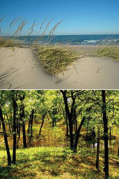 Indiana Dunes Indiana - This is a beautiful and fun place for families. A real beach without irritating salt water and shark attacks