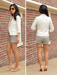 Blazer-shorts combo. Great for work!