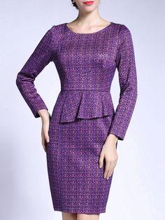 Ruffled Sheath Mini Dress
