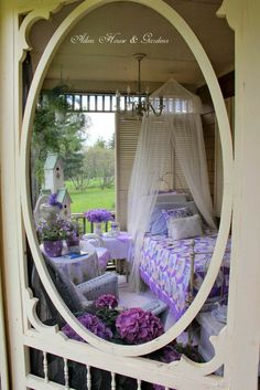 Romantic Cottage, Cozy Cottage, Cottage Style, Shabby Cottage, Outdoor Rooms, Outdoor Living, Outdoor Bedroom, Pergola, Lavender Cottage