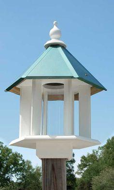 Azalea Bird Feeder, Verdigris Roof