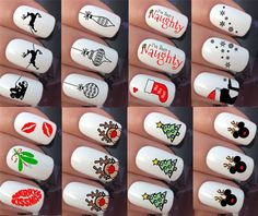 CHRISTMAS NAIL ART STICKERS DECALS WATER TRANSFERS REINDEER SNOWFLAKE SNOWMEN #nails #nailart #nailartstickers