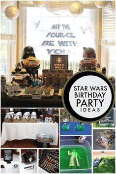 May the Four-ce Be With You: Classic Star Wars Boys' Birthday Party - Spaceships and Light sabers