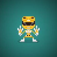 Famous Characters in Pixel Art Yellow Ranger is Trini Kwan (Thuy Tang) from Mighty Morphin Power Rangers #yellowranger #trinykwan #thuytrang #tiger #sabertoothedtiger #powerdaggers #powerranger #powerrangers #mightymorphin #mightymorphinpowerrangers #mmpr