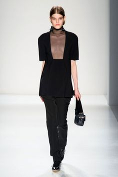 VICTORIA BECKHAM turtle neck but with contrasting fabrics