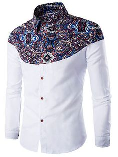 Cheap camisa hombre, Buy Quality men brand dress shirt directly from China mens dress shirts Suppliers: Luxury Brand Mens Dress Shirts 2016 Fashion Floral Printed Long Sleeve Men Shirt Chemise Homme Casual Stylish Camisas Hombre African Shirts For Men, African Dresses Men, African Clothing For Men, African Men Fashion, Fashion Men, Urban Fashion, Autumn Fashion, Fashion Photo, Fashion Online