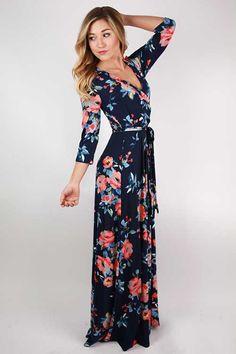 Uzun Çiçekli Elbise Modelleri