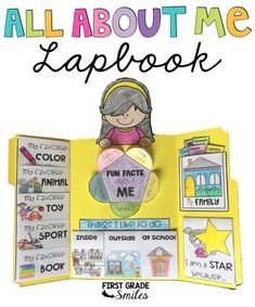 This Back to School project is a exciting way to allow students to share about themselves and a great project to display for Open House. Kindergarten, 1st grade, and 2nd grade will have so much fun with this interactive lapbook activity. #firstgrade #secondgrade #allaboutme