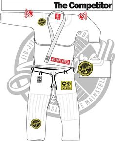 Shoyoroll Gi - The Competitor - Brazilian Jiu Jitsu Kimono Gi - White Gi with Grey contrast stitching.