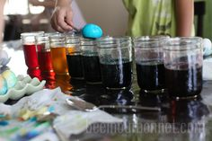 Dying Eggs with Gel Food Coloring