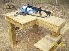 c d c shooting bench plans shooting table Outdoor Shooting Range, Shooting Table, Shooting Rest, Shooting Targets, Shooting Guns, Archery Targets, Shooting Bench Plans, Bench Rest, Reloading Bench