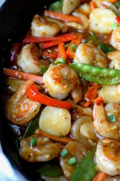 Shrimp with Hot Garlic Sauce Recipe-Butter Your Biscuit fish recipes Asian Recipes, Healthy Recipes, Ethnic Recipes, Hot Garlic Sauce, Hot Sauce, Seafood Recipes, Cooking Recipes, Spicy Shrimp Recipes, Chinese Garlic Shrimp Recipe