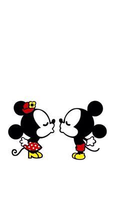 I phone 5/5s Micky&Minnie wallpaper♡