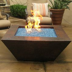 Grand Effects Corinthian Gas Fire Pit Table Finish Tumbled Lava Rock Size H X W D