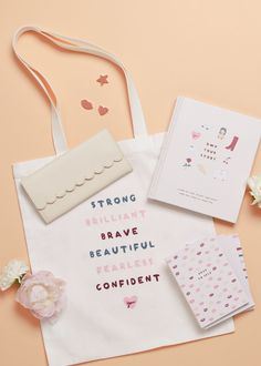 Know a woman with a kind heart, fierce mind and brave spirit? We've got just the thing for her 💋 Book Stationery, Stationery Design, Cute Notebooks, Journals, Diy Plaster, Cute Stationary, Notebook Ideas, Etsy Business, Planner Organization