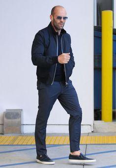 Nice style. Jason Statham in LA