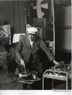 George Braque in his studio by Robert Doisneau