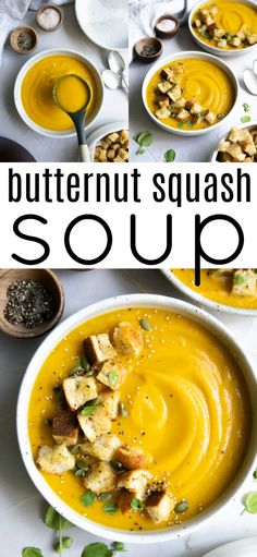 This is my all-time favorite Butternut Squash Soup Recipe! Super easy to make, naturally gluten-free and vegetarian, learn How to Make the BEST Butternut Squash Soup using your Slow Cooker, Instant Pot, or Stovetop method. The Best Butternut Squash Soup - Healthy Soup Recipes, Vegetarian Recipes, Vegan Vegetarian, Healthy Meals, Eating Healthy, Healthy Cooking, Keto Recipes, Healthy Food, Dessert Recipes