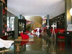 Inside the Colorful and Refined CitizenM Hotel in London designed by Concrete Architectural Associates