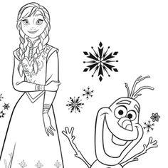 1000 images about olaf on pinterest frozen coloring pages disney frozen and coloring pages - Coloriage anna et elsa ...