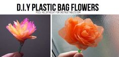 Get crafty with plastic bags! This DIY post explores the fusion of craft techniques like embroidery, crochet and braiding with the everyday plastic bag. Fused Plastic, Plastic Art, Plastic Flowers, Diy Flowers, Paper Flowers, Handmade Flowers, Plastic Bag Crafts, Recycled Plastic Bags, Upcycled Crafts
