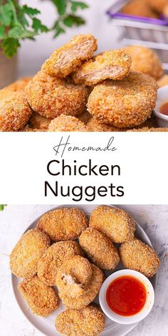 Homemade Chicken Nugget becomes my first option when I need a tasty and quick snack or side dish. This homemade kid and adult pleaser recipe is healthier and cleaner than other frozen fast-food nuggets. Stock up as frozen nuggets for you to make a long-time tasty snack stock! Great Chicken Recipes, Chicken Nugget Recipes, Best Dinner Recipes, Turkey Recipes, Lunch Recipes, Whole Roasted Chicken, Oven Baked Chicken, Gourmet Appetizers, Appetizer Recipes
