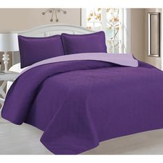 Home Sweet Home Victoria Design Reversible 3 PC Quilt Bedspread Sets (Full/Queen, Burgundy/Beige) * For more information, visit image link. (It is an affiliate link and I receive commission through sales) Satin Bedding, Quilt Bedding, Bedding Sets, Purple Bedding, Bed Sets, Sweet Home, Victoria, Pantone, Quilt Sets Queen