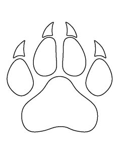 Tiger paw template she 39 s crafty pinterest stencil for Tiger paw template