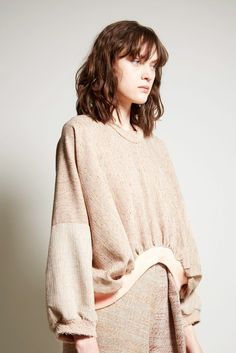Anntian Wide Shorty Sweater in Brown/Pink Shades
