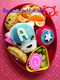 Bentos For My Kids: Captain America bento