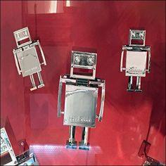 Flight of Robots As Window Dressing - Flight View Slat Wall, Window Dressings, Robots, 1950s, Windows, Retro, Antiques, Inspiration, Channel
