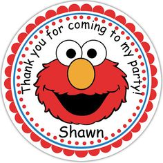 Elmo Sesame Street Personalized Stickers Party by sharenmoments, $6.00