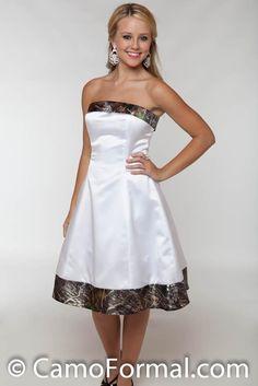White And Camo Wedding Dresses