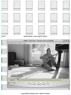 """On The Workbench: """"You've Got A Friend"""" by James Taylor. Starting the guitar tab for this classic! Will include all right hand fingerpicking details. Please let me know if you would like free tab updates and skype review: www.jeffrey-thomas.com"""