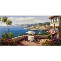 Trademark Fine Art Italian Afternoon Canvas Wall Art by Rio, Size: 18 x 32, Multicolor