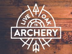 Live Oak Archery logo Archery Logo, Archery Club, Archery Shop, Archery Shirts, Outdoor Logos, Collateral Design, Logo Images, Tree Designs, Icon Design
