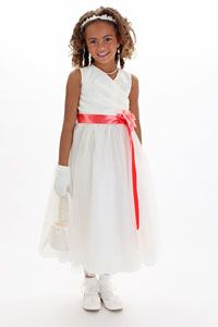 Flower Girl Dress Style KK_6001 TULLE - BUILD YOUR OWN DRESS! Choice of 139 Sash and 51 Flowers