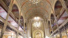 Video about Coral Temple interior architecture - jewish community synagogue in Bucharest, Romania. Video of building, romania, jewish - 78165653 Bucharest Romania, Barcelona Cathedral, Interior Architecture, Worship, Temple, Mosaic, Coral, Community, Stock Photos