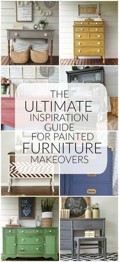 {The Ultimate Painted Furntiure Inspiration Guide} Over 30 BEAUTIFUL painted furntiure makeovers! - Little House of Four #paintedfurniture #furniture Refurbished Furniture, Paint Furniture, Repurposed Furniture, Furniture Projects, Furniture Making, Furniture Makeover, Home Furniture, Furniture Design, Furniture Price