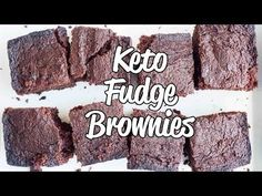 If you're a fan of fudge and a fan of brownies then you are going to love these fudgy Keto Brownies made from coconut flour!