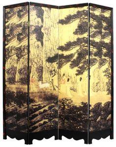 Golden Forest Chinese Shoji Screen