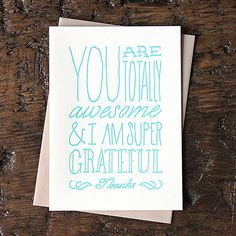 Blue Thank You Cards - HOLSTEE