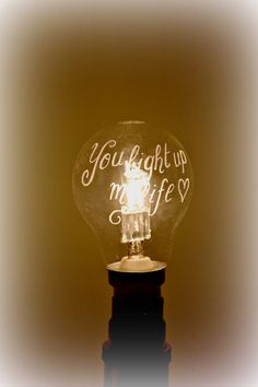 Personalised light bulb unusual gift Father's by CoveCalligraphy