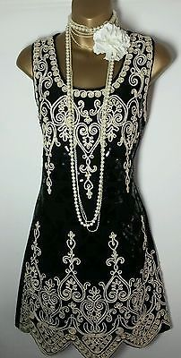 Great Gatsby 20s wedding  party ladies dress size UK 12 - 14, EUR 40 - 42 new